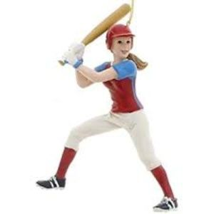 Kurt Adler Girl Softball Batter Ornament 5""